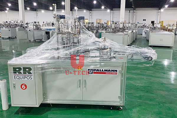 Automatic 1+2 disposable face mask making machine send to Mexico